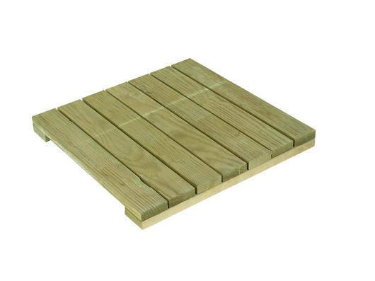 dalles bois pin classe iv 50x50