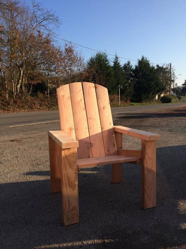 Fauteuil douglas houssa mobilier de jardin - Mobilier de jardin bois ...
